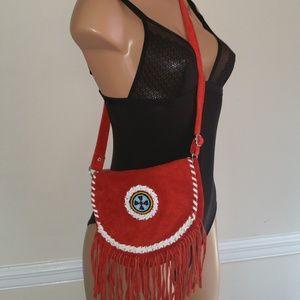 Vintage Bags - Vintage suede Fanny pack